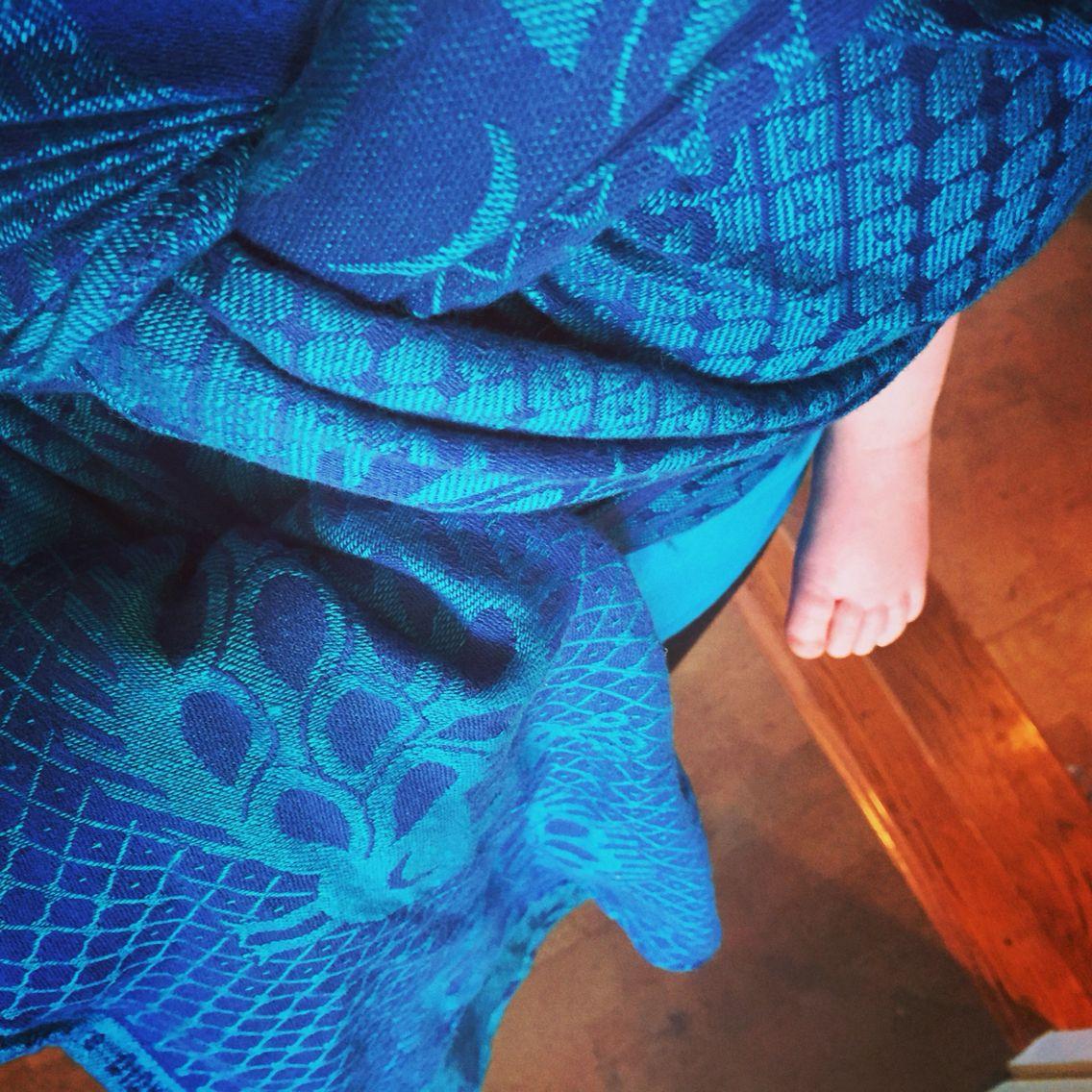 Didymos Blue Linen Pfau. didymos BLP bluelinenpfau