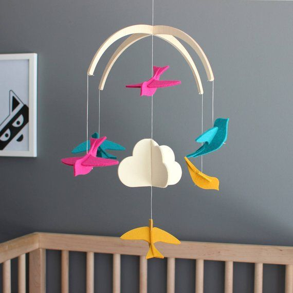 Baby Crib Mobile Modern Nursery Baby Mobile Unique Mobile For Baby Boy Nursery New Baby Gift Bab Baby Girl Nursery Decor Baby Crib Mobile New Baby Products