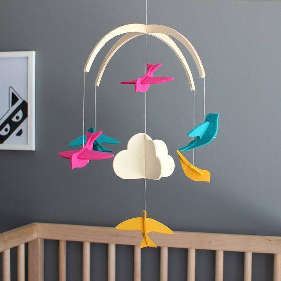 Baby Crib Mobile Modern Nursery