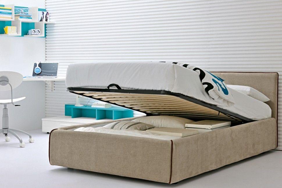 Cameretta glicine ~ Cameretta golf letto in tessuto grigio argento colombini