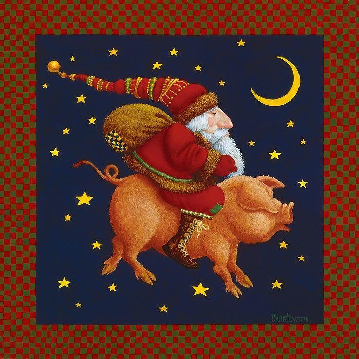 ждали картинки для декупажа свиньи новогодние какую версию