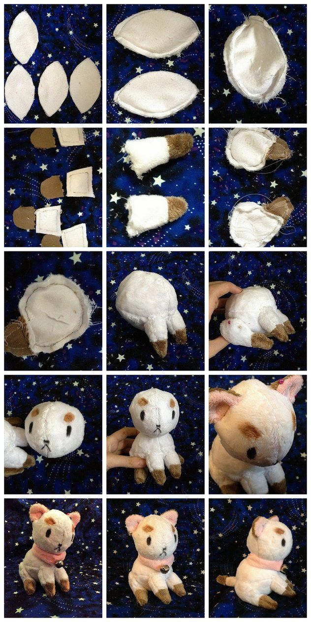 Puppycat plush tutorial by PulsefireKitten | Fieltro | Pinterest ...