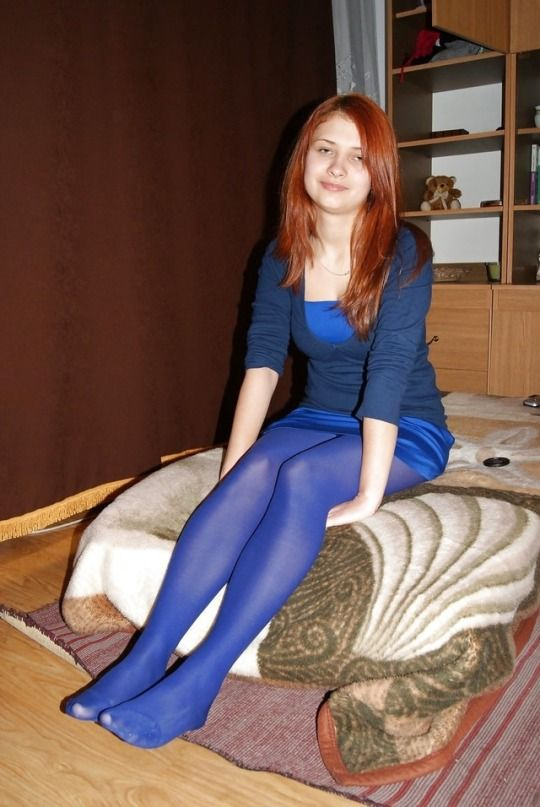 sexy red haired teen in tights xx