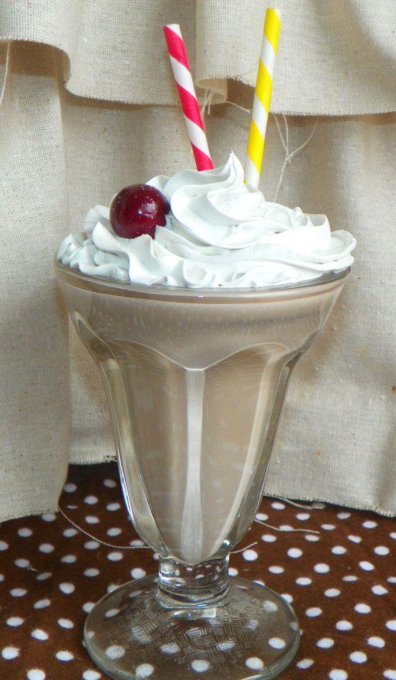 50s Style Fake Milkshake On Etsy Retro Photo Prop Chocolate Drinks Chocolate Milkshake Milkshake