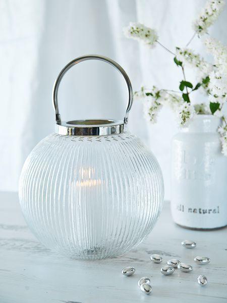 Vintage Style Glass Lantern