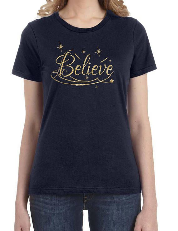believe women holiday christmas shirt women christmas