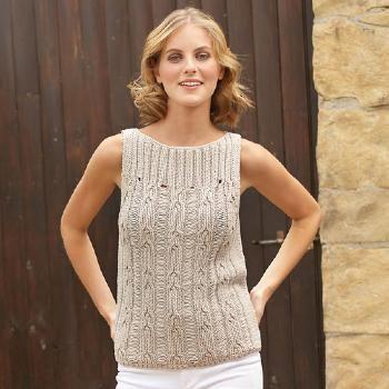 patron tricot debardeur femme