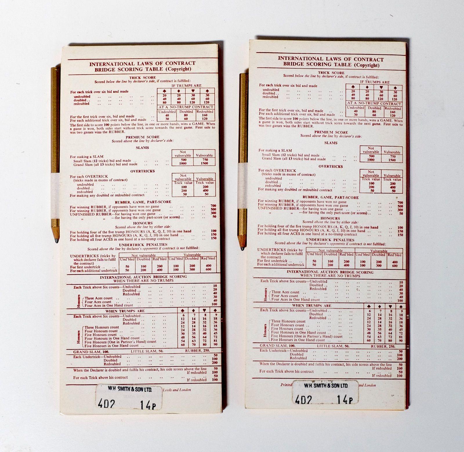 Vintage Waddingtons London Bridge Game Set With Score Card Pads