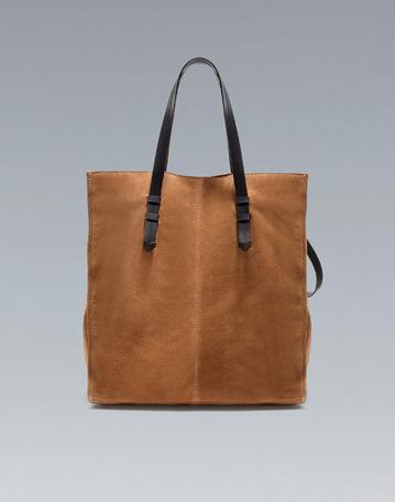 99f00a1f712 Zara suede shopper | Arm Candy | Zara, Bags, Bag Accessories