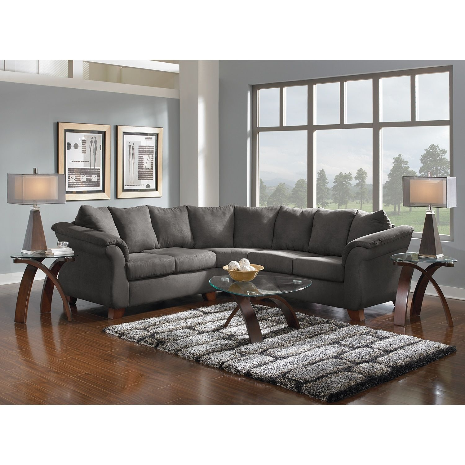 Adrian 2 Piece Sectional City Living Room Living Room Leather