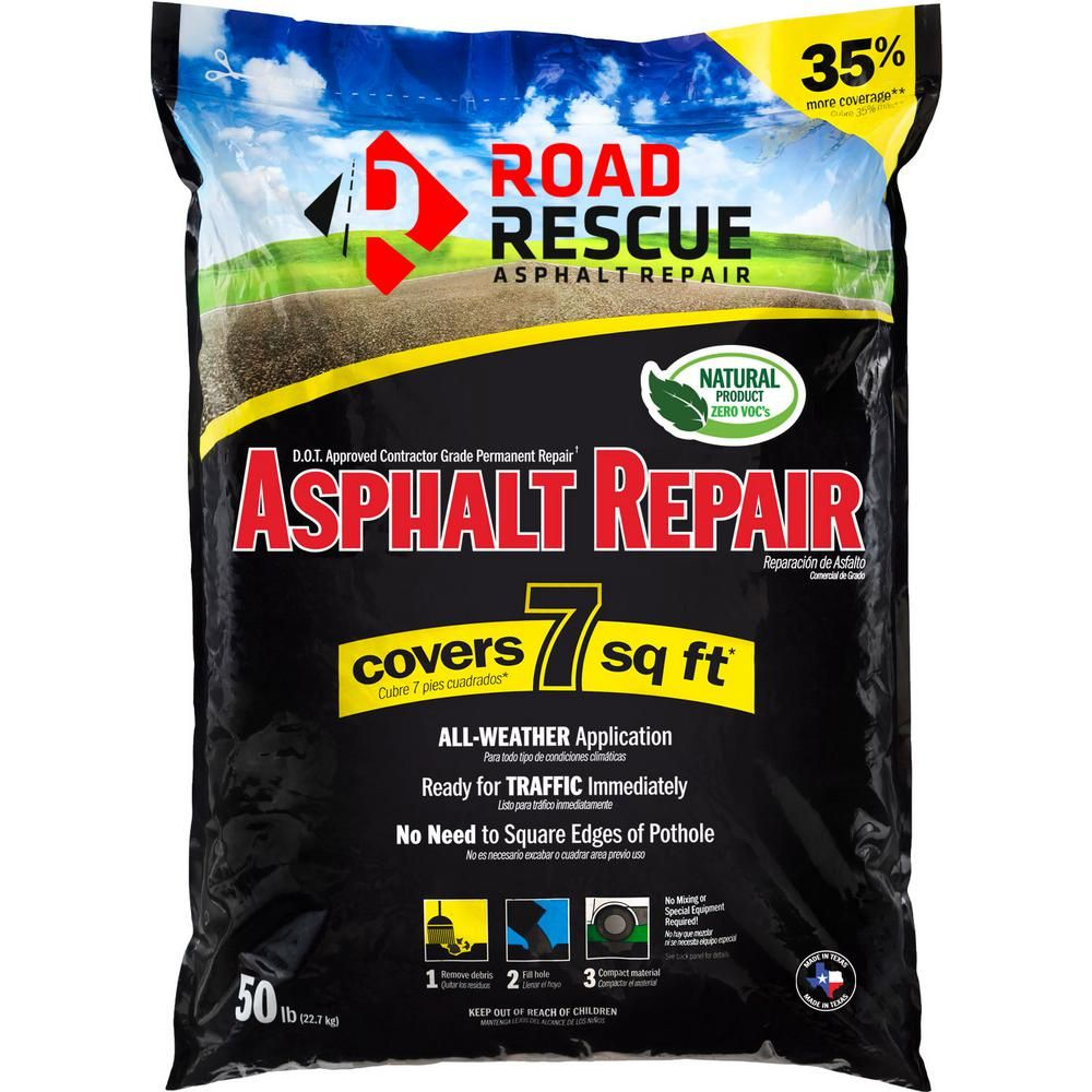 Road Rescue 50 Lb Asphalt Repair 10 Pack Ap 500 In 2020 Asphalt Repair Asphalt Patch Driveway Repair