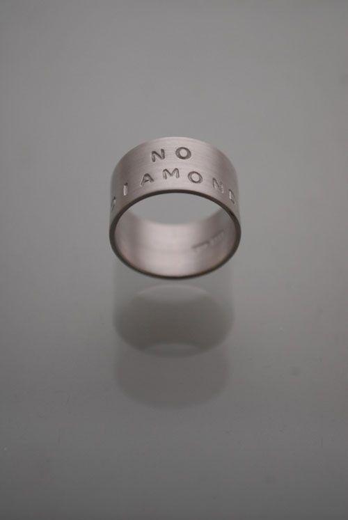 Finnish design - NO DIAMOND ring by Sanna Nuutinen