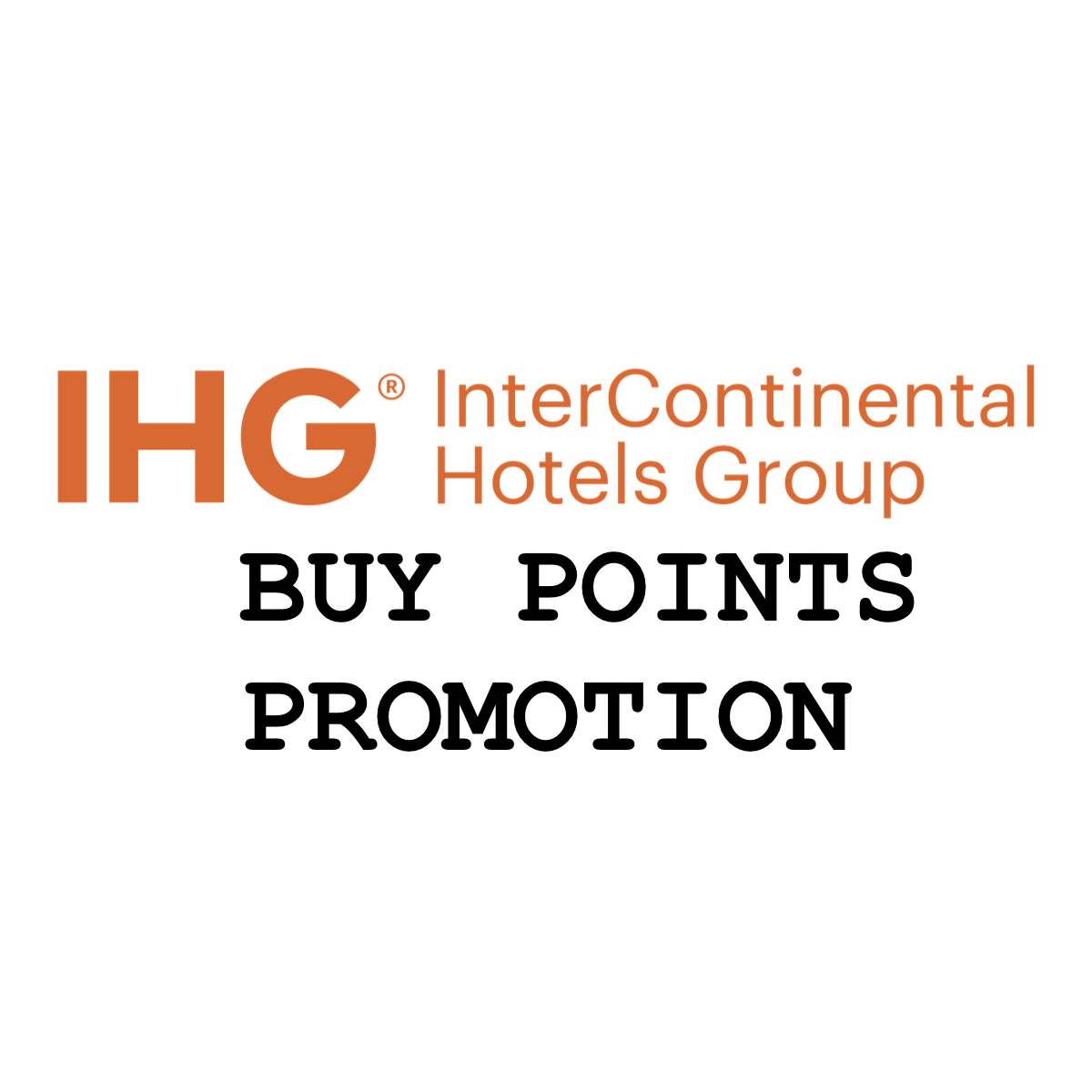 Buy Ihg Points On Sale For 0 5 Cents