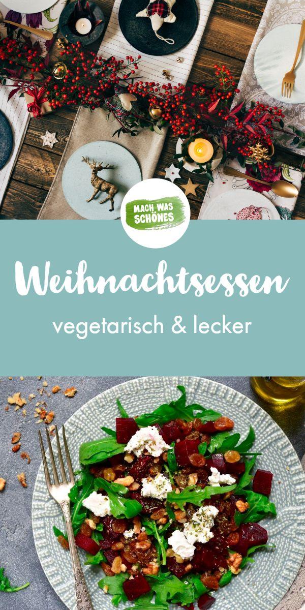 Rezepte Weihnachten - 3 vegetarische Rezepte  #weihnachtsessenrezepte