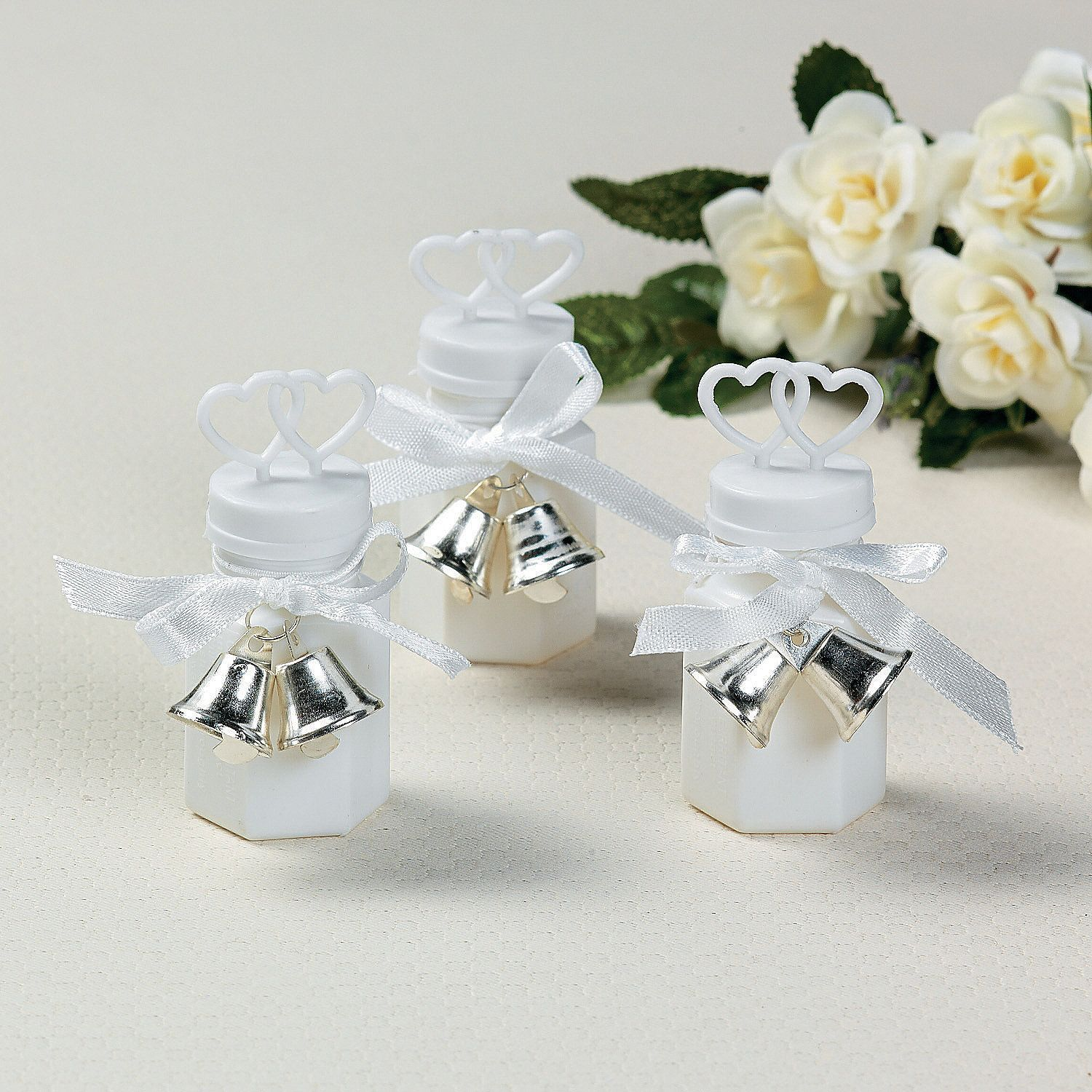 Wedding Bubble Bottles With Silver Bell Tie-Ons - OrientalTrading ...