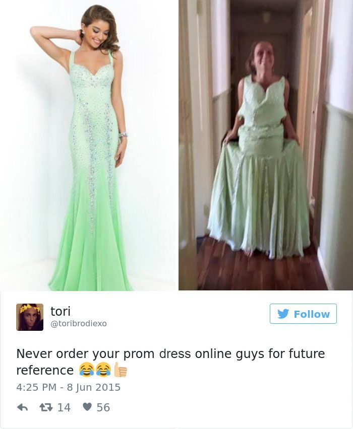 ebc43744f86 Teens Are Sharing Prom Dresses They Regret Buying Online And It s Hilarious
