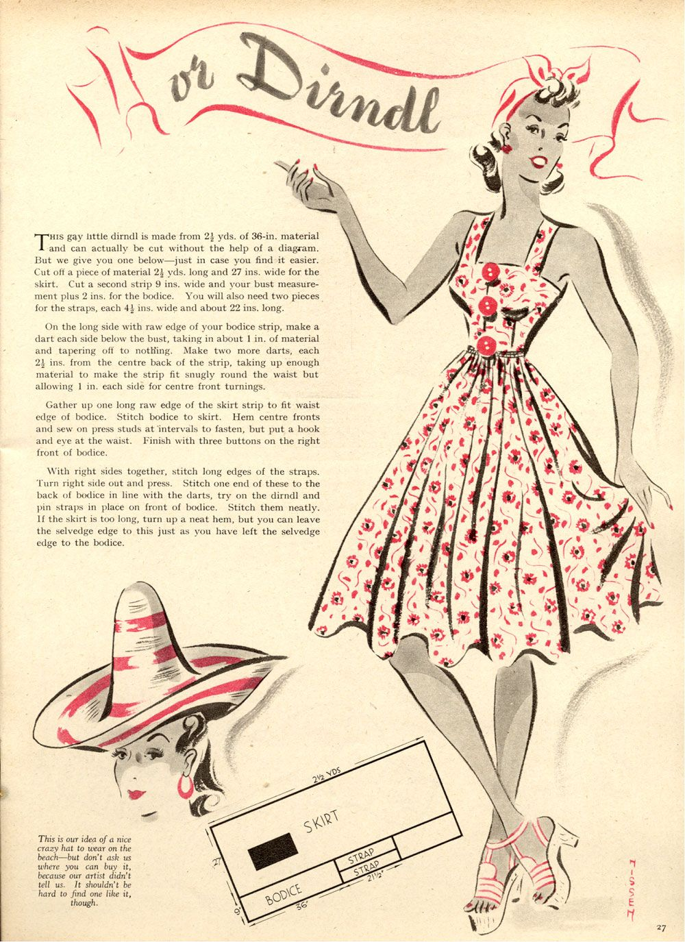 Free Vintage 50s Style Dress Sewing Pattern and Tutorial | FREE ...