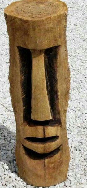 Simple tiki to carve weird how very few cuts make a