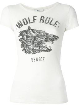 Camiseta de seda estampada