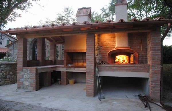 covered outdoor kitchen with pizza oven and barbeque area outdoor kitchen outdoor pizza on outdoor kitchen with smoker id=28682