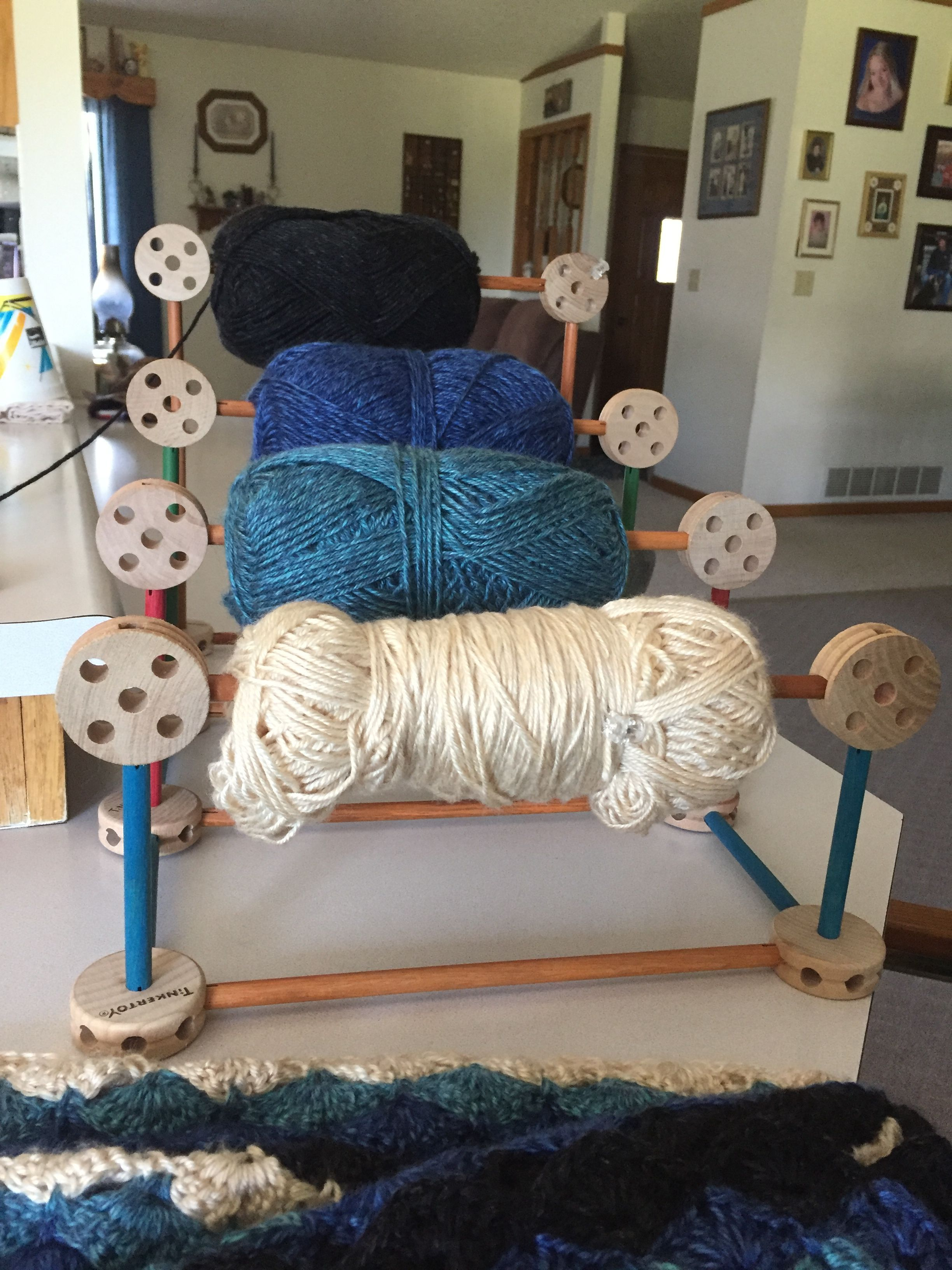 DIY Yarn Holder #diyyarnholder DIY Yarn Holder #diyyarnholder