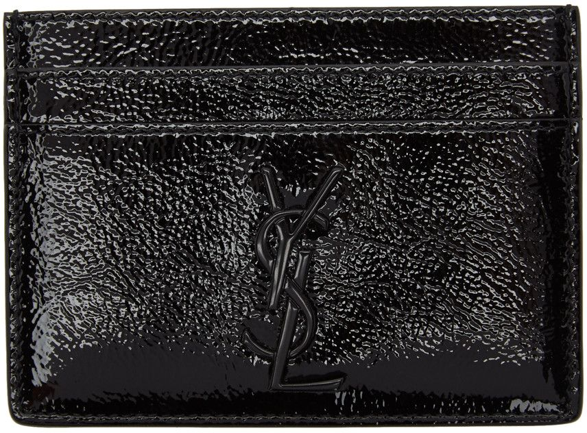 Monogram E W Wallet With Coin Purse In Crocodile Embossed Leather In Black Monogram Card Black Leather Wallet Embossed Leather