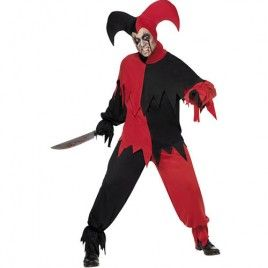 Homme Halloween médiéval Harlequin Jester Joker Clown Fancy Dress Costume Outfit