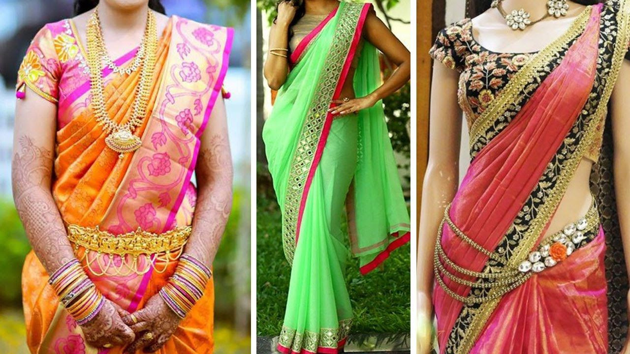 7529269591a3a9 South Indian Style #SareeDraping With Thin Perfect Pleats | #HowTo Wear # Saree Perfectly To Look Slim