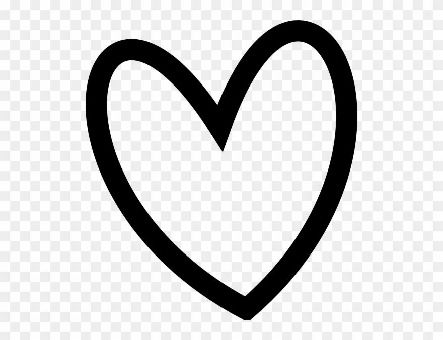 Slant Black Heart Outline Clip Art At Clker Heart Clip Art Free Black And White Png Download Clip Art Heart Clip Art Free Clip Art