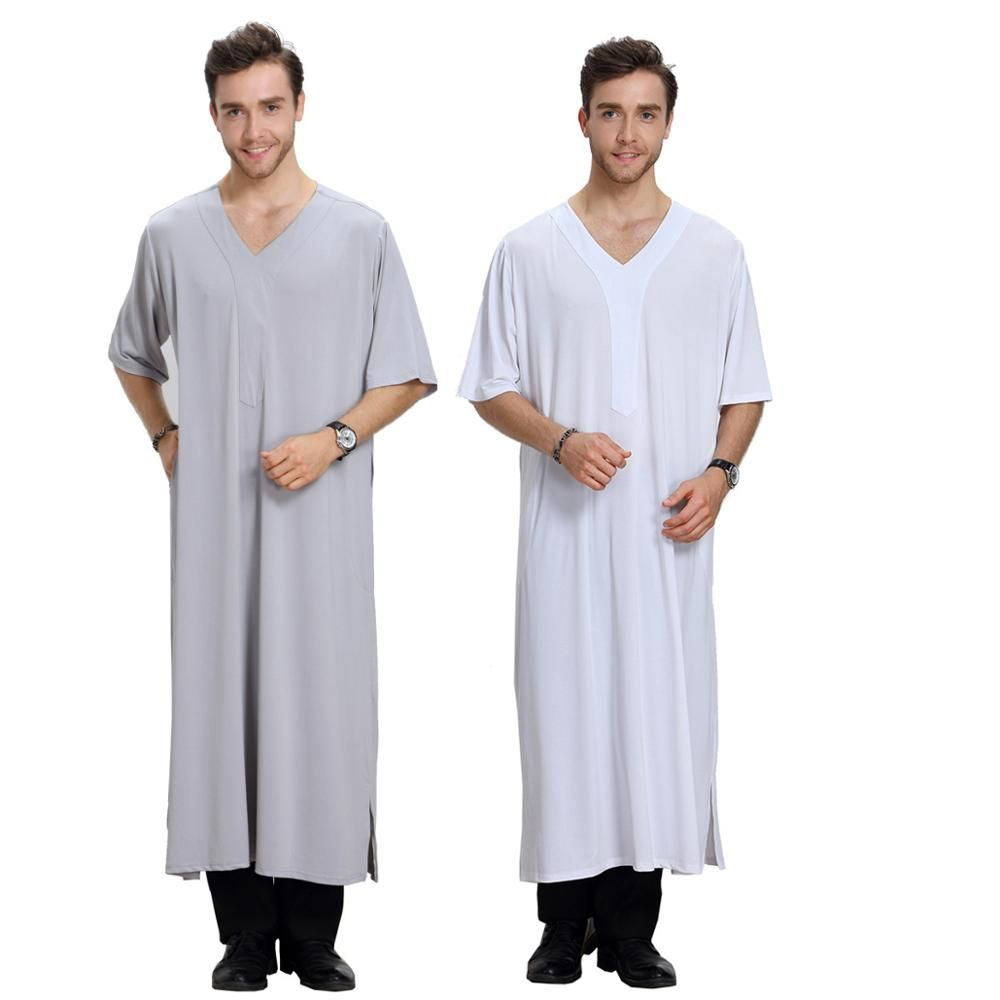 97b2fcf1dd2 Men Islamic Abaya Robes Men's Islam Apparel Clothing Men saudi arab style Jubba  Thobe Muslim Dress //Price: $31.44 & FREE Shipping // #islamicwear