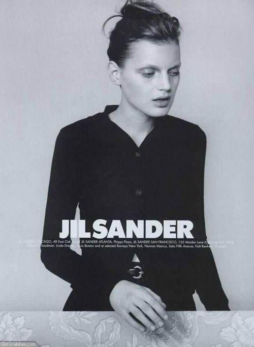 Model: Guinevere van Seenus; Photographer: Craig McDean; Jil Sander Spring 1996