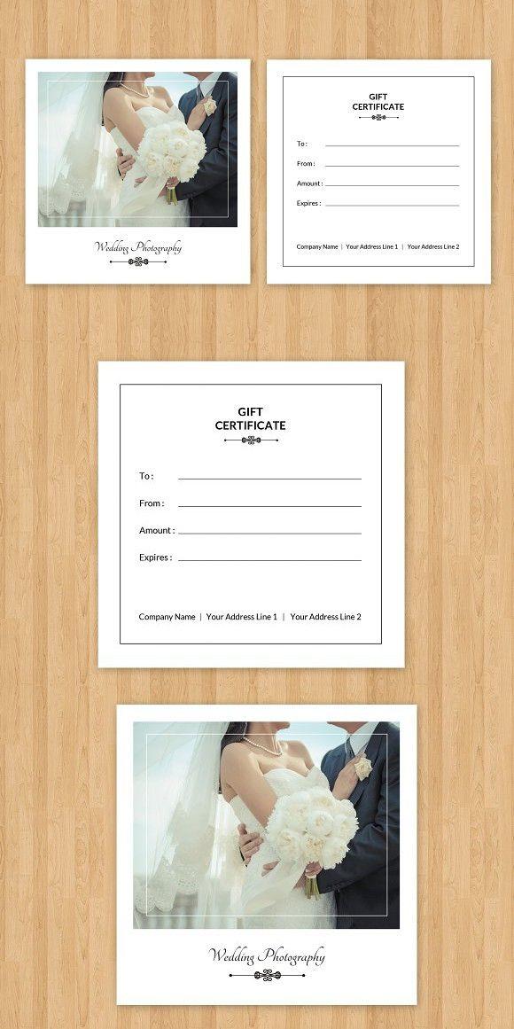 Photographer Gift Certificate V04 Pinterest Gift Voucher Design