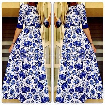 New Hot Fashion Womens Summer Holiday Boho Long Maxi Dress Beach Dresses -in Dresses from Women's Clothing & Accessories on Aliexpress.com | Alibaba Group