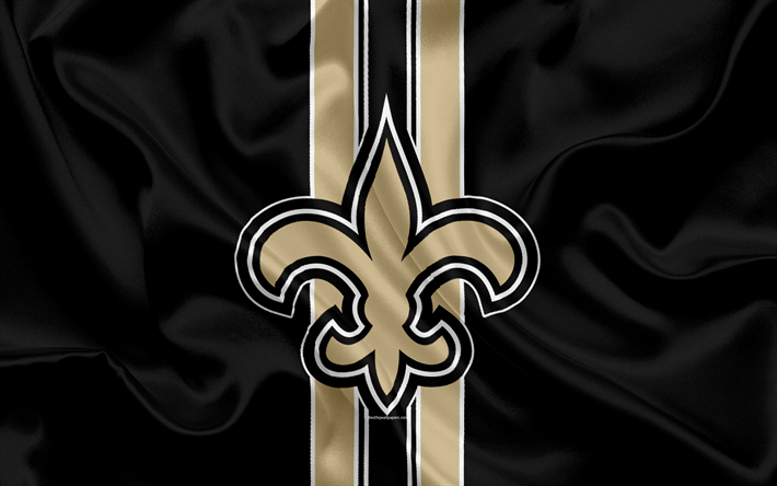 Download Wallpapers New Orleans Saints American Football Logo Emblem Nfl National Football League New Orleans Louisiana Usa National Football Conferenc New Orleans Saints New Orleans Saints Football Saints Football