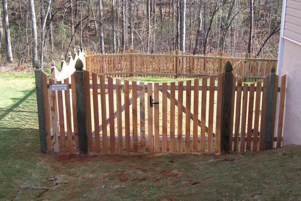 3 Foot Picket Fence With Double Gate Arch Google Search Picket