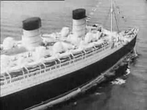 The Launch of the Queen Mary (amazing video) - the RMS Queen Mary is christened by Her Majesty the Queen, is launched and crosses the ocean.