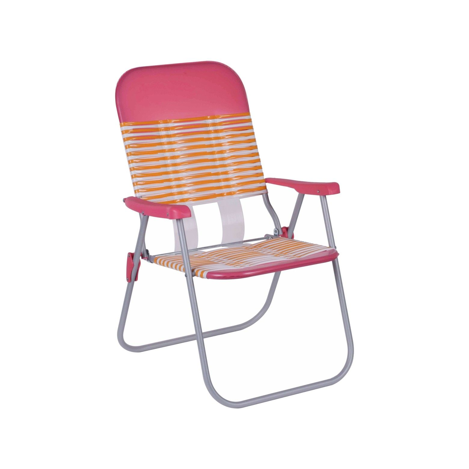 Bring A Retro Look To Your Deck With The Outdoor Jelly Folding Patio Chair In Pink X2f Orange From Roo Folding Beach Chair Beach Chairs Outdoor Folding Chairs