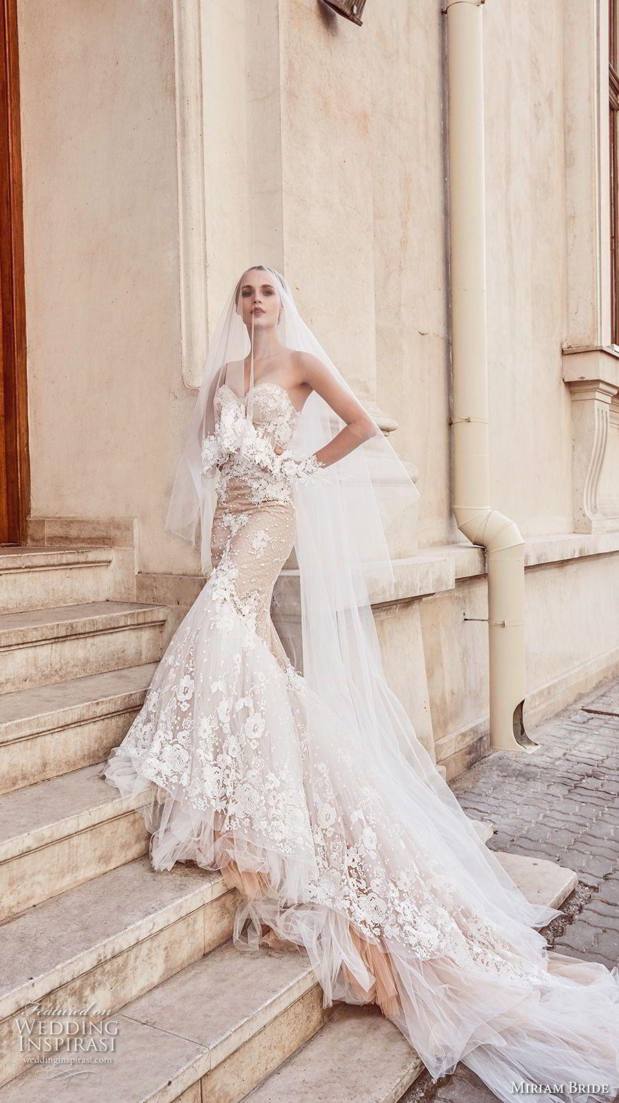 Miriams Braut 2018 Braut trägerlosen Schatz Ausschnitt volle ...