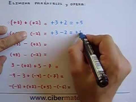 Operaciones Con Paréntesis Suma Y Resta De Enteros Math Geometry Youtube Math