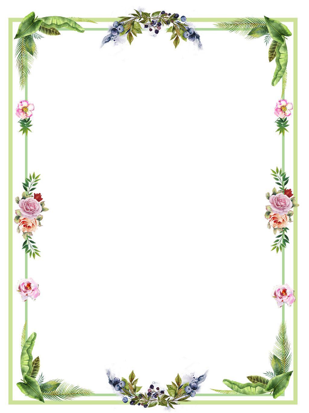 Fresh Flower Plant Border Flower Frame Flower Background Wallpaper Flower Border