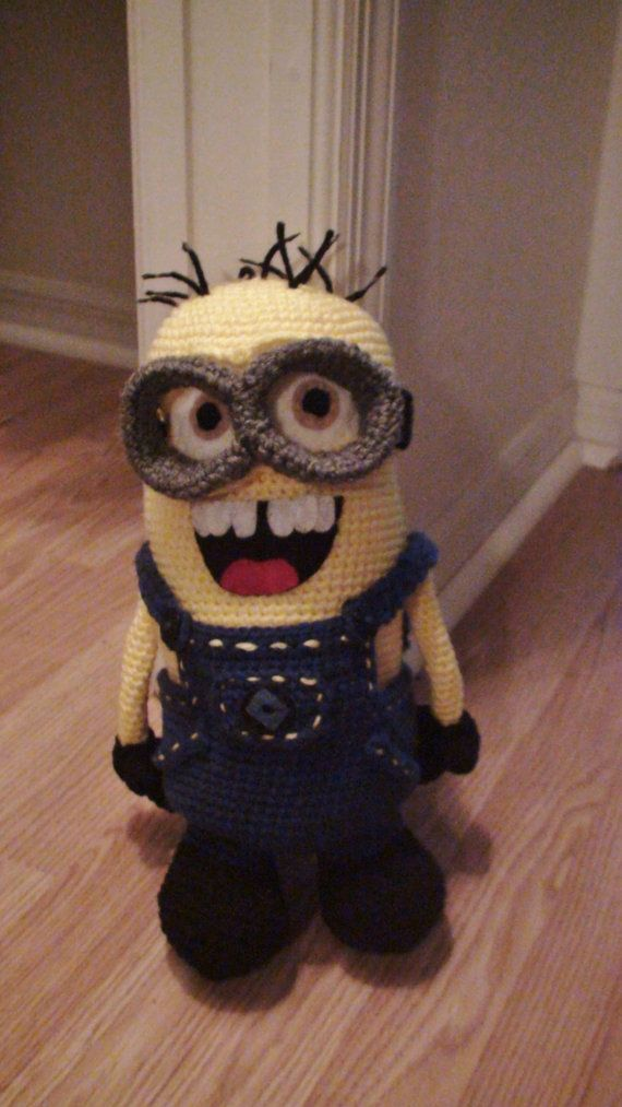 Crochet Minion Amigurumi by toyboxplayground on Etsy, $75.00 ...