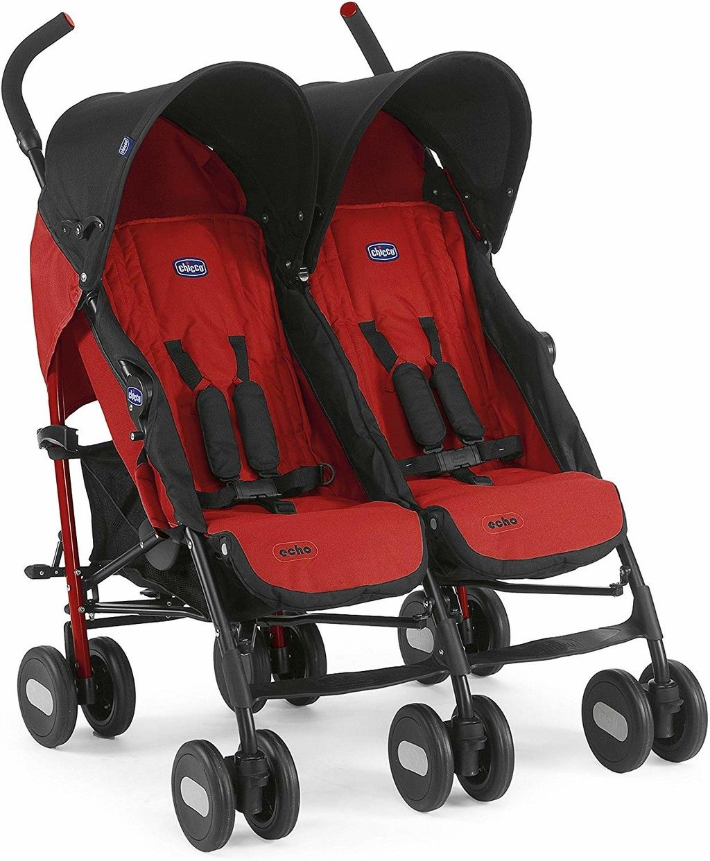 Gran Oferta De Amazon En La Silla De Paseo Gemelar Chicco Echo Twin En Color Rojo Está Rebajada A 125 Euros Con Envío Gratis Baby Strollers Stroller Baby Strollers Travel System