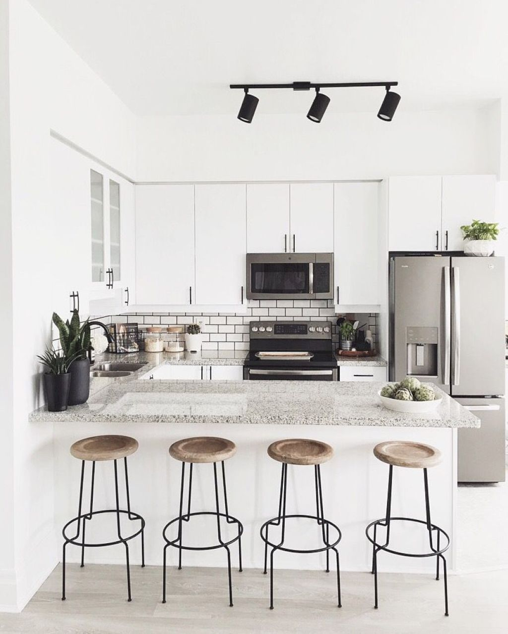 28 Small Kitchen Design Ideas: Gorgeous 55 Awesome Small Apartment Kitchen Remodel Ideas