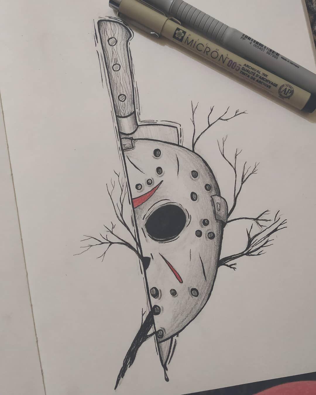Desenho De Jason Voorhees 750764200364789171 Desenhos Assustadores Desenhos De Halloween Desenhos Halloween