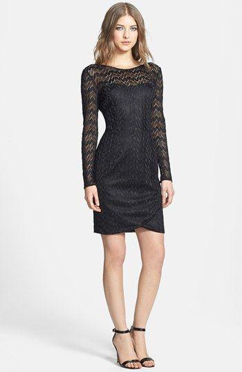 Aidan mattox lace sheath dress