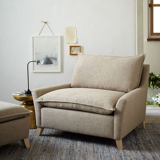 Bliss Down Filled Chair And A Half | West Elm A Brushed