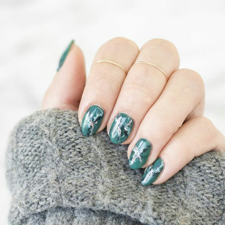 Forest marble nail arts | nails. | Pinterest | Marble nail art ...