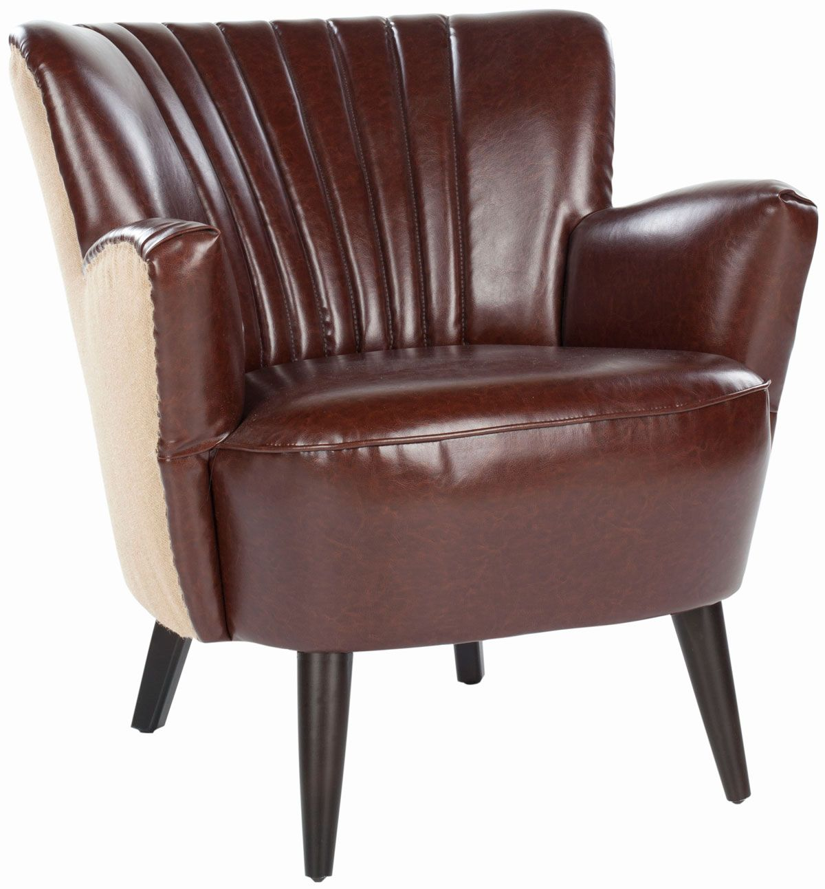 Safavieh's Cooper Arm Chair SKU: MCR4612A Color: Brown/ Beige
