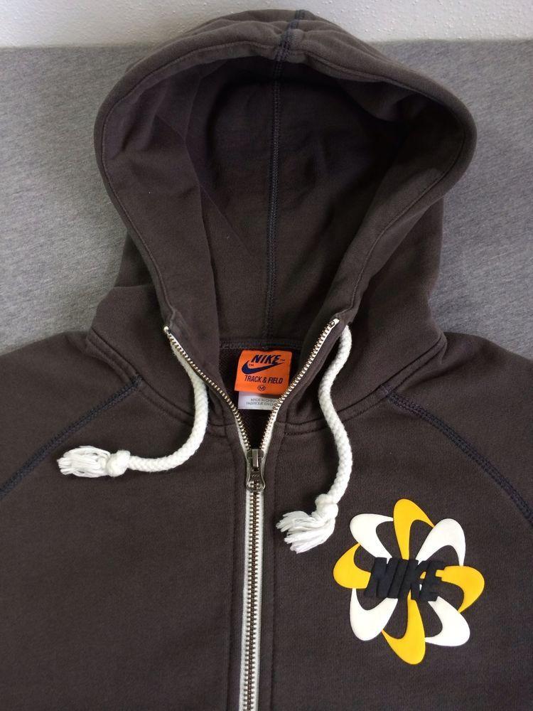 59100602ae9a NIKE Hoodie Sweatshirt Track   Field Zip Up RARE! Pinwheel Retro SP13 Men s  M  Nike  Hoodie