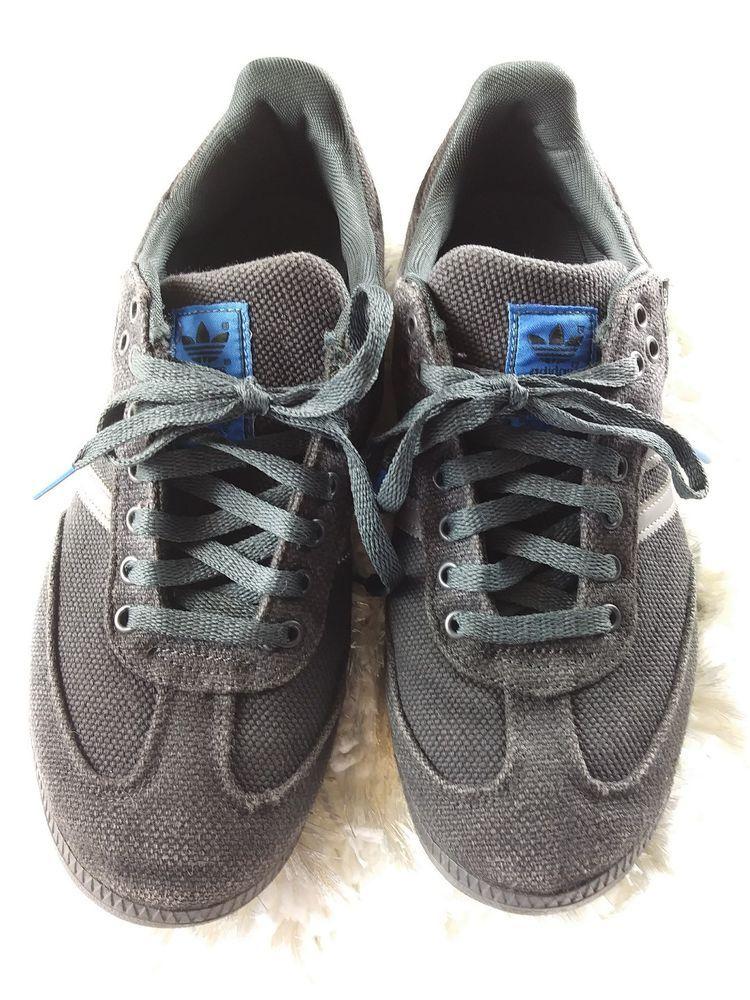 Rare Mint Adidas samba hemp Men's Size 9.5 Black Blue Gray
